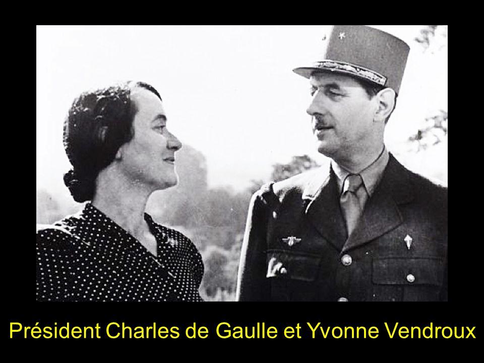 Président Charles de Gaulle et Yvonne Vendroux