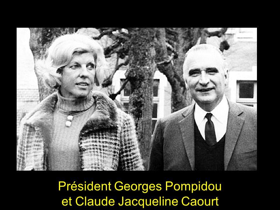 Président Georges Pompidou et Claude Jacqueline Caourt