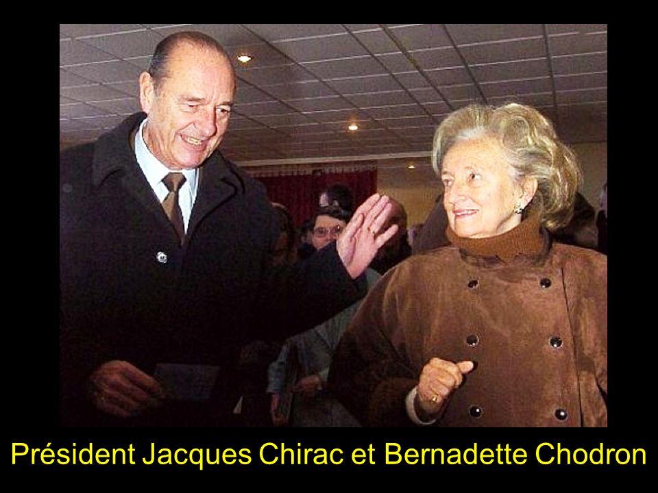 Président Jacques Chirac et Bernadette Chodron