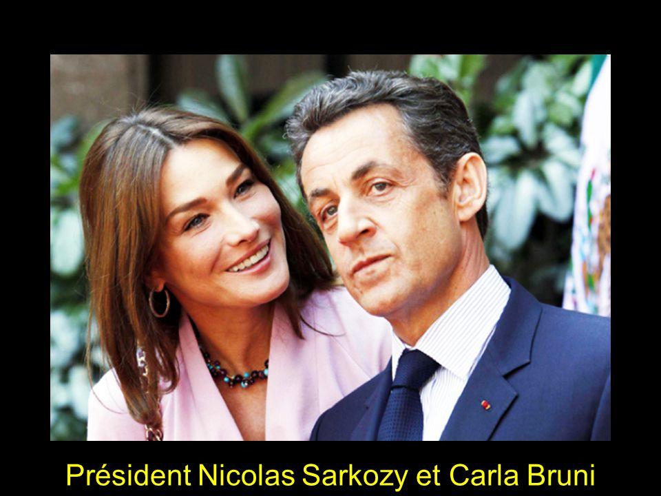 Président Nicolas Sarkozy et Carla Bruni