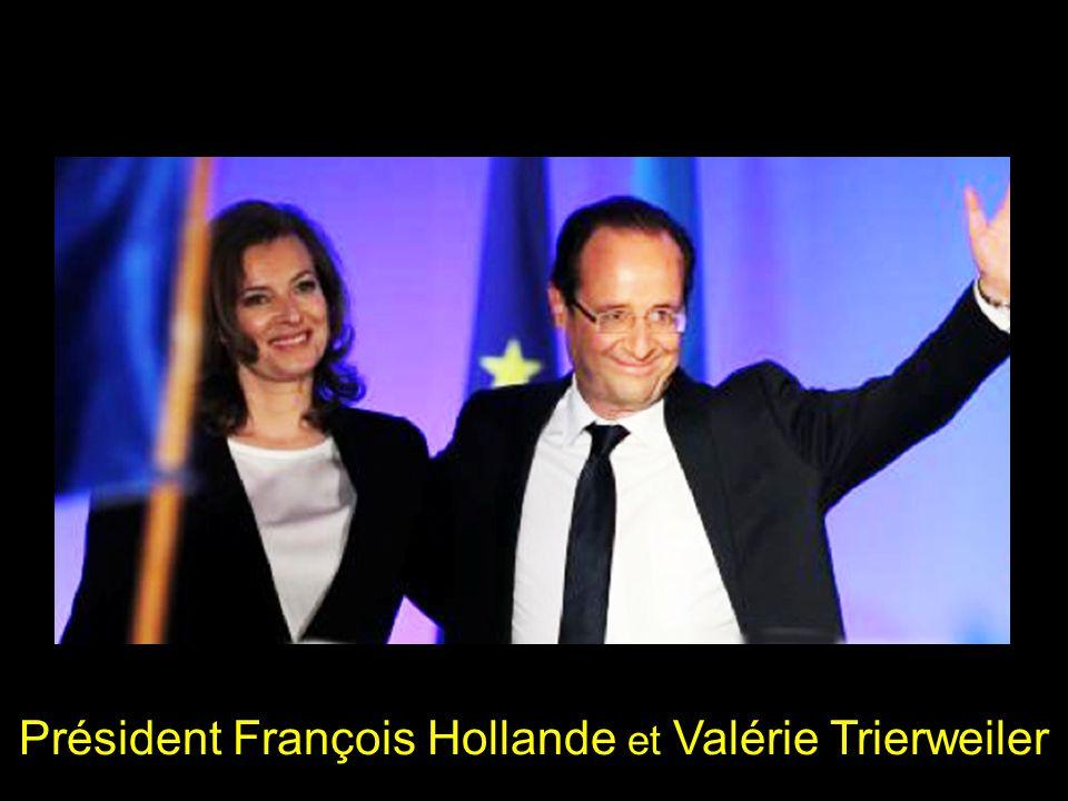 Président François Hollande et Valérie Trierweiler