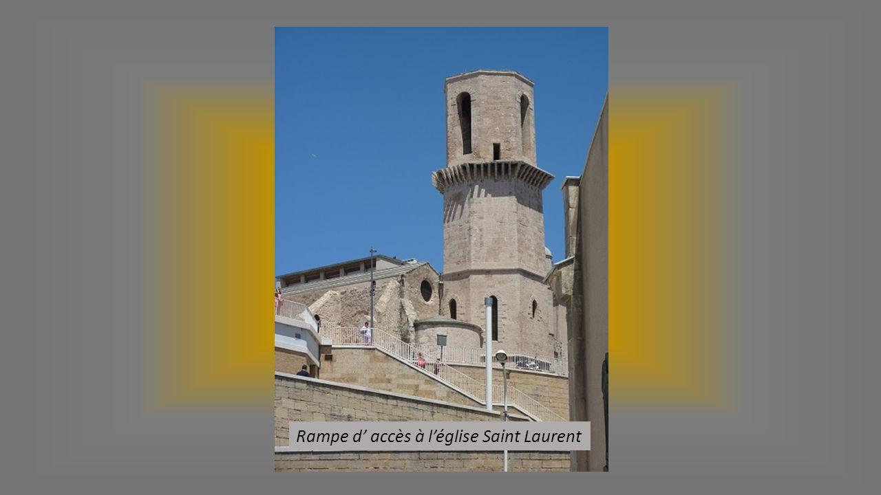 Rampe d' accès à l'église Saint Laurent