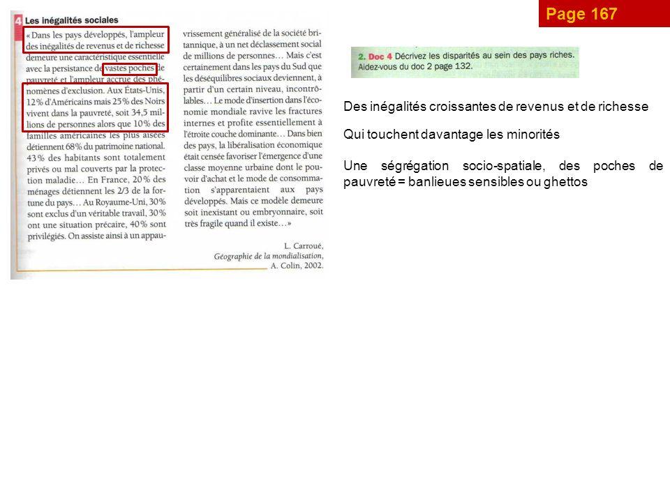 Page 167 Des inégalités croissantes de revenus et de richesse