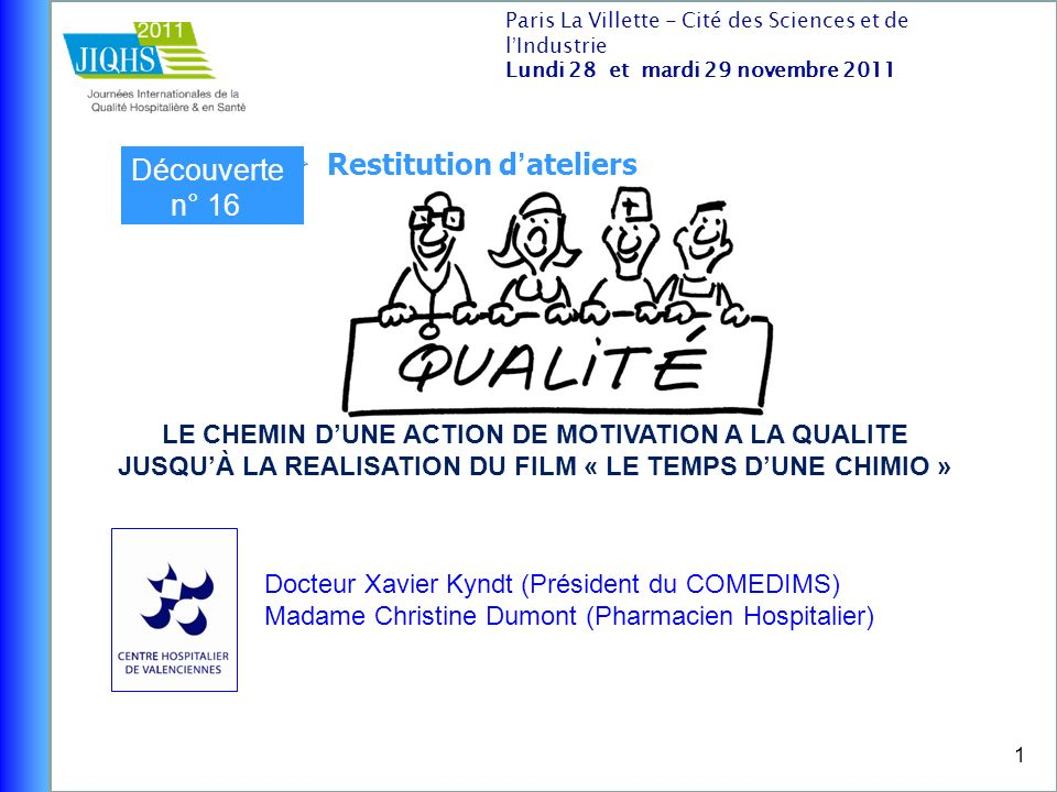 Restitution d'ateliers