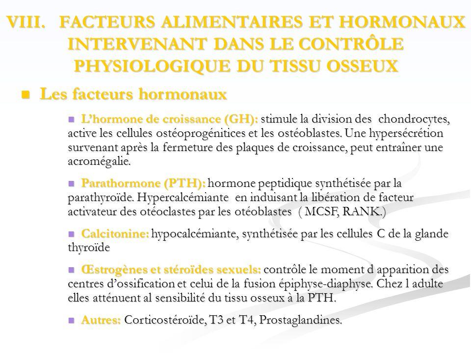 Les facteurs hormonaux