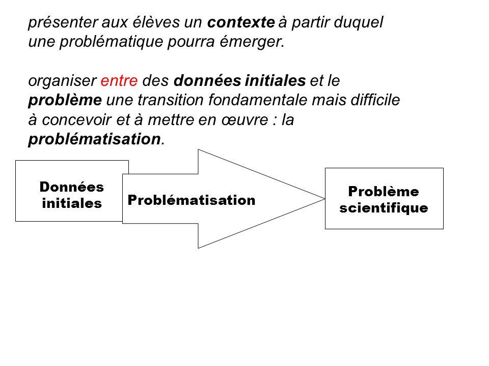 Problème scientifique