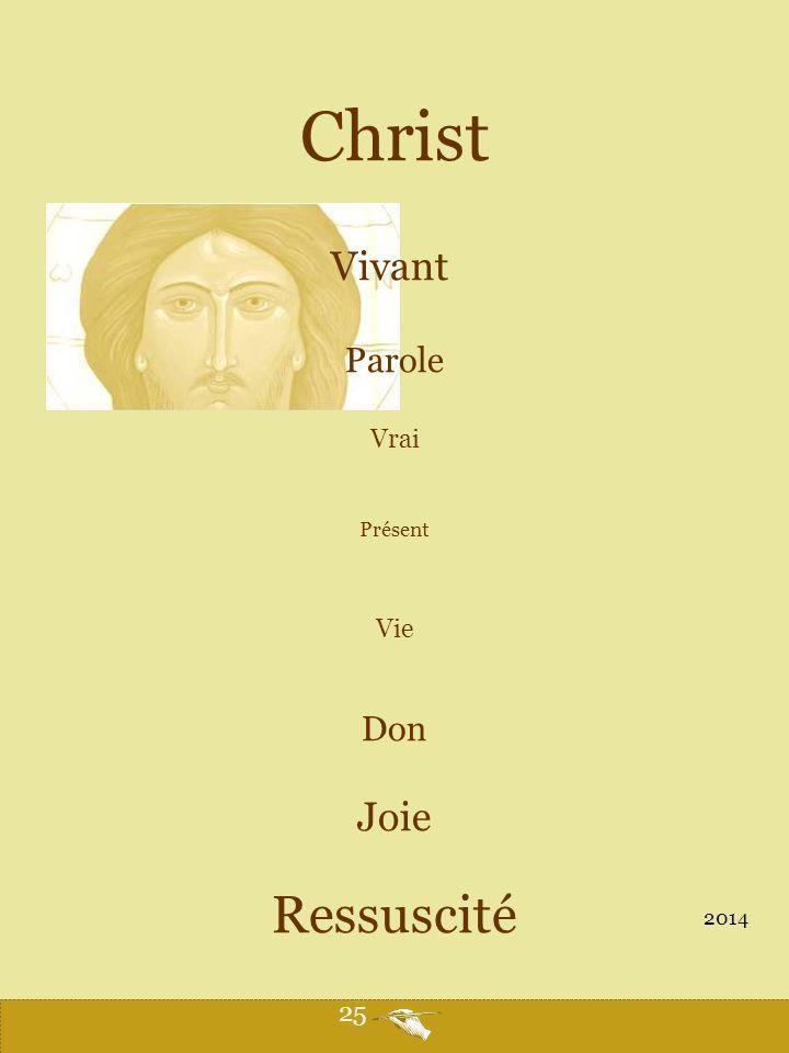 Christ Vivant Parole Vrai Présent Vie Don Joie Ressuscité 2014 25