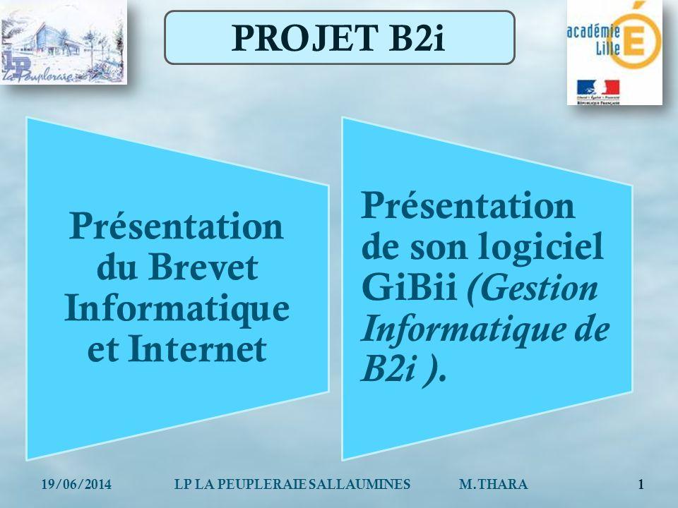 Présentation du Brevet Informatique et Internet