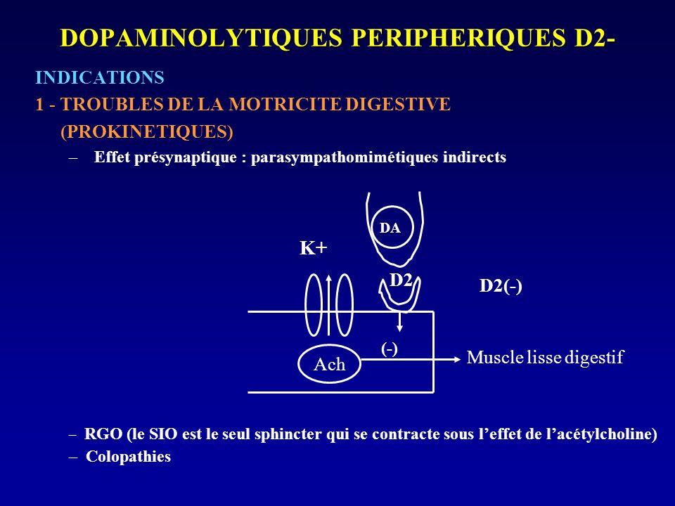DOPAMINOLYTIQUES PERIPHERIQUES D2-