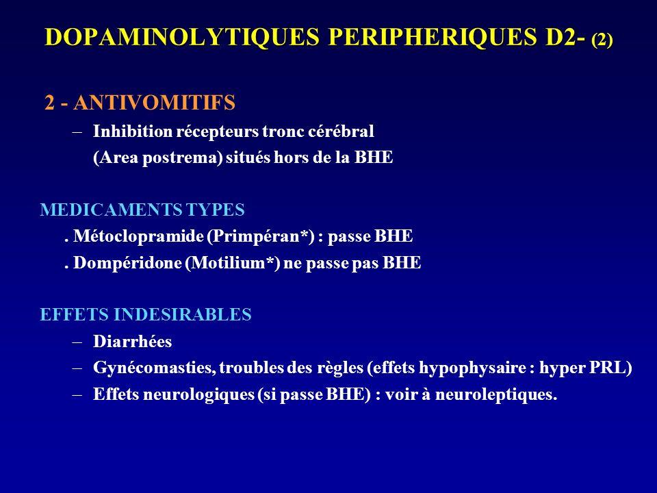DOPAMINOLYTIQUES PERIPHERIQUES D2- (2)