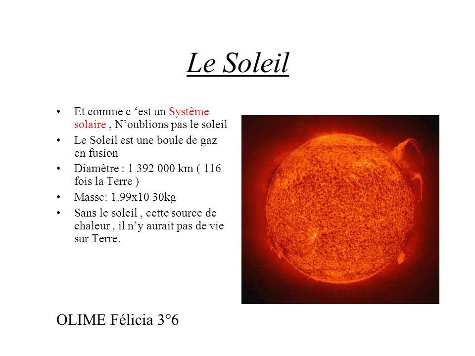 Le Soleil OLIME Félicia 3°6