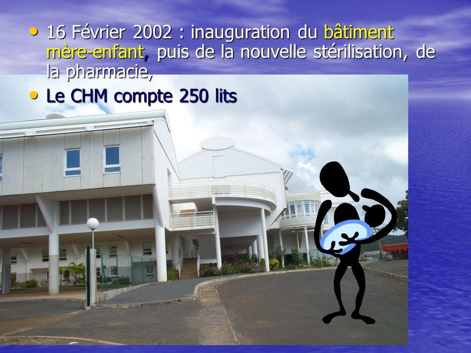 16 Février 2002 : inauguration du bâtiment mère-enfant, puis de la nouvelle stérilisation, de la pharmacie,
