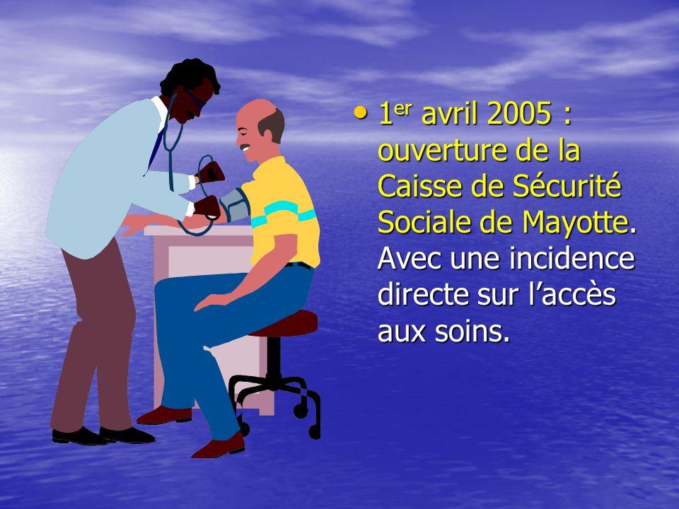 1er avril 2005 : ouverture de la Caisse de Sécurité Sociale de Mayotte