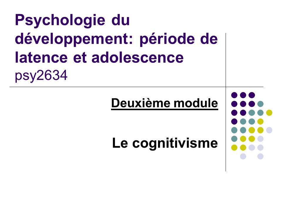 Deuxième module Le cognitivisme