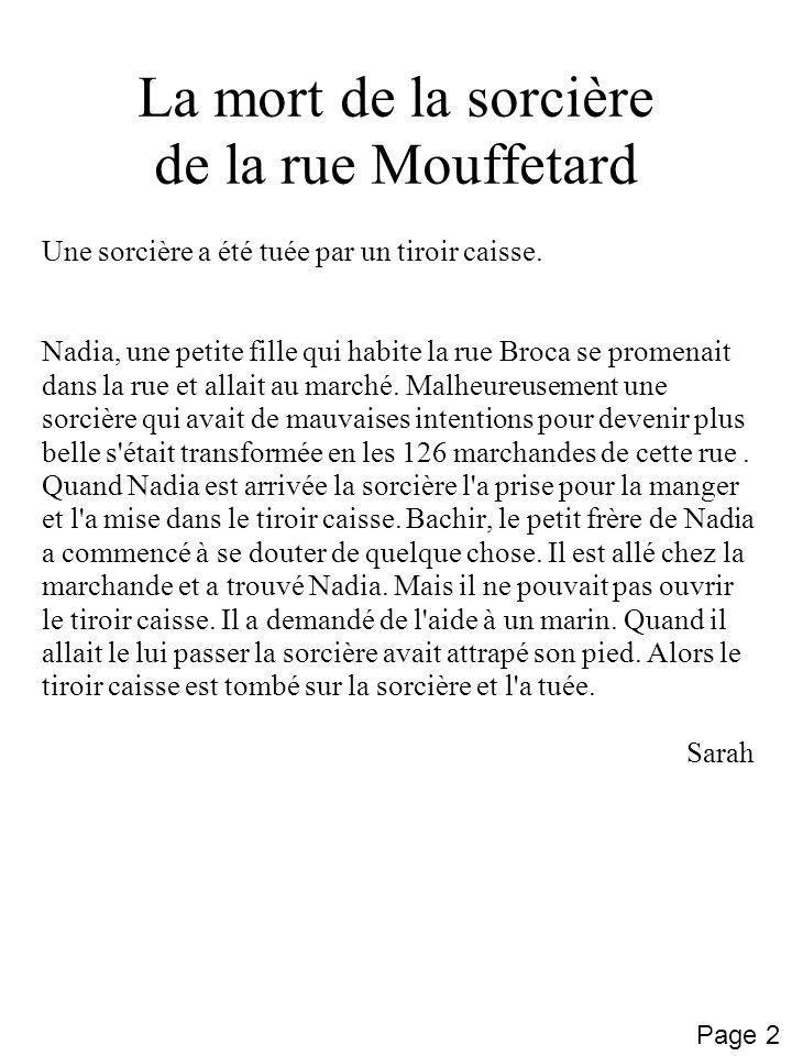 La mort de la sorcière de la rue Mouffetard