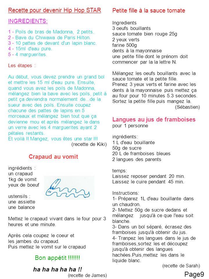 Page9 Bon appétit !!!!!!! ha ha ha ha ha !!
