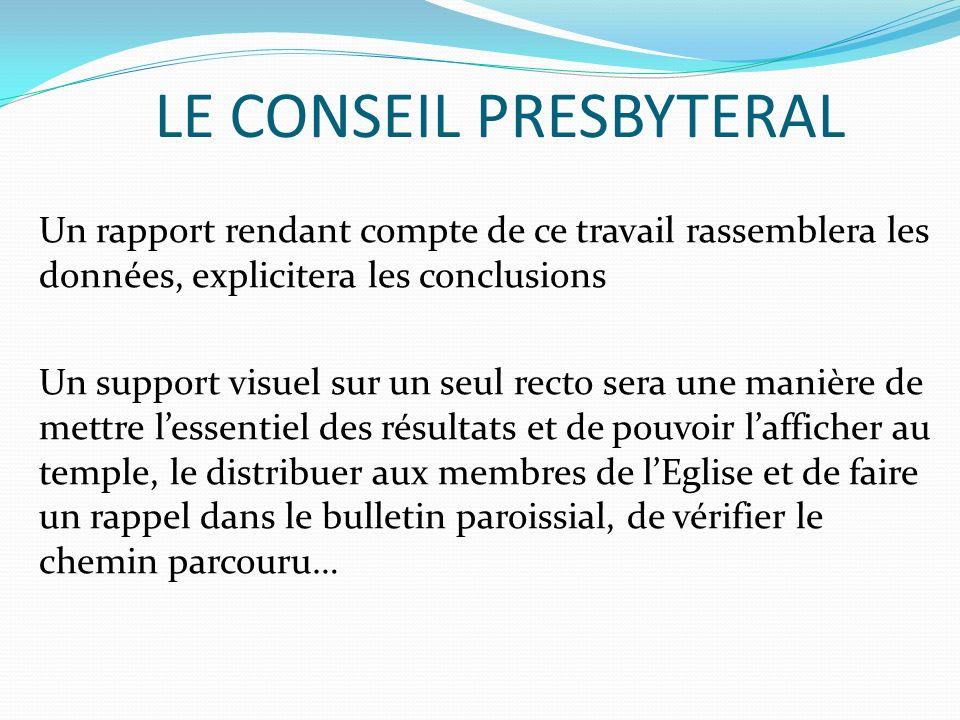 LE CONSEIL PRESBYTERAL