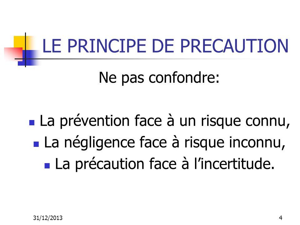 LE PRINCIPE DE PRECAUTION