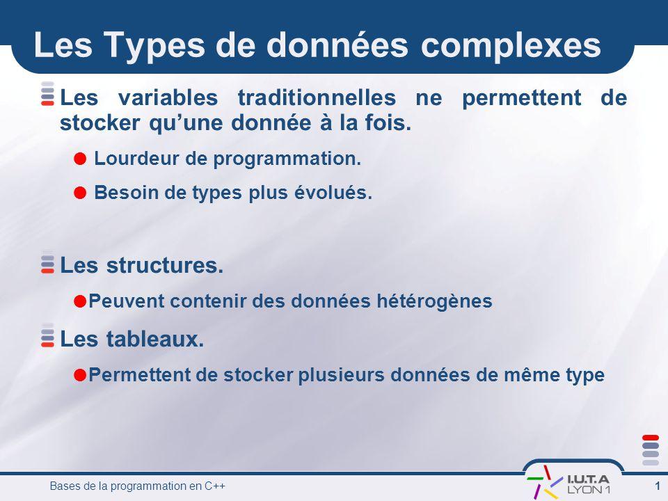Les Types de données complexes
