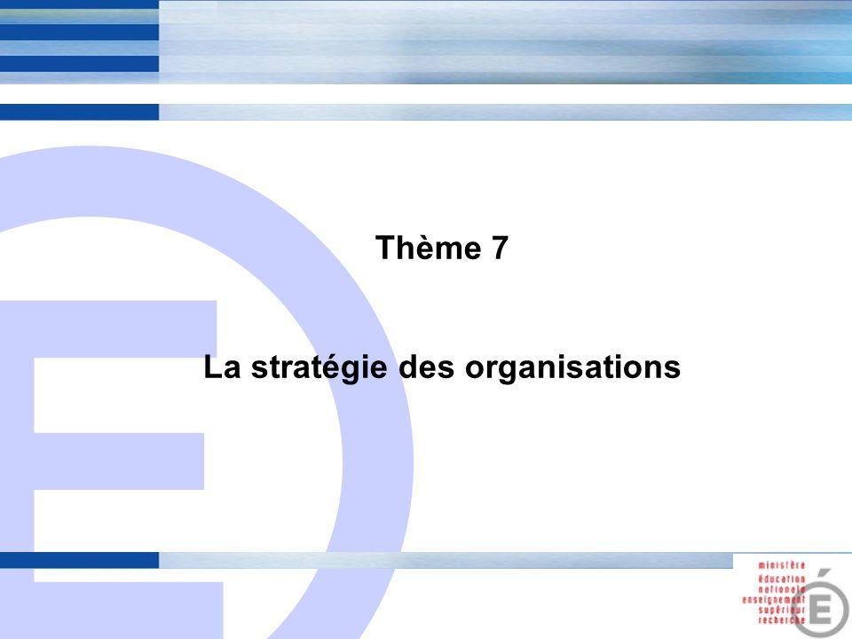 La stratégie des organisations