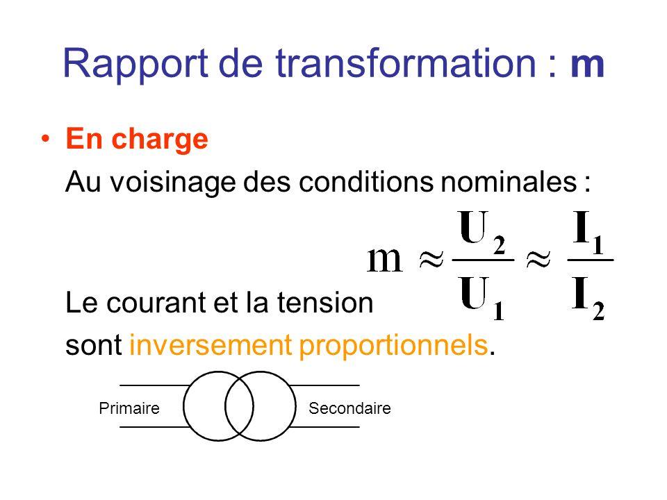 Rapport de transformation : m