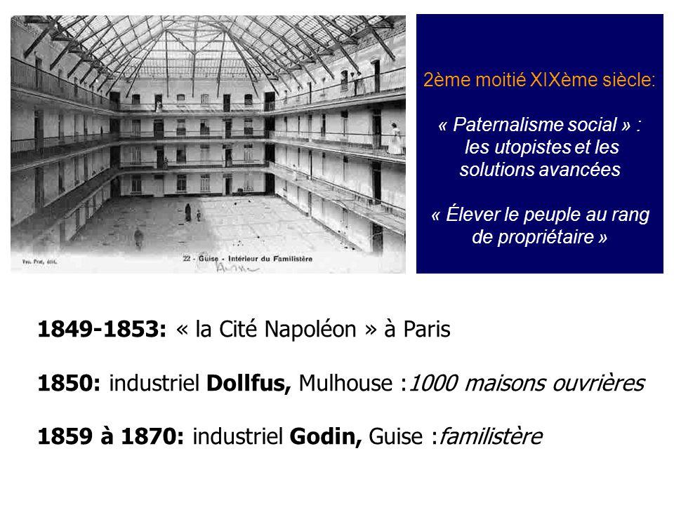 1849-1853: « la Cité Napoléon » à Paris