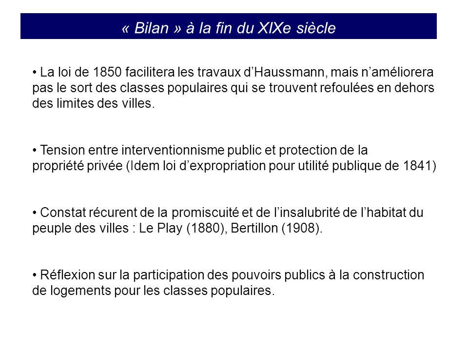 « Bilan » à la fin du XIXe siècle