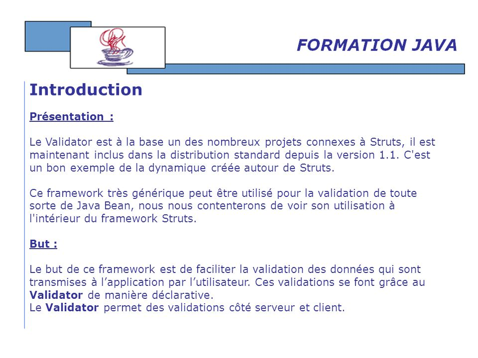 Introduction Présentation :