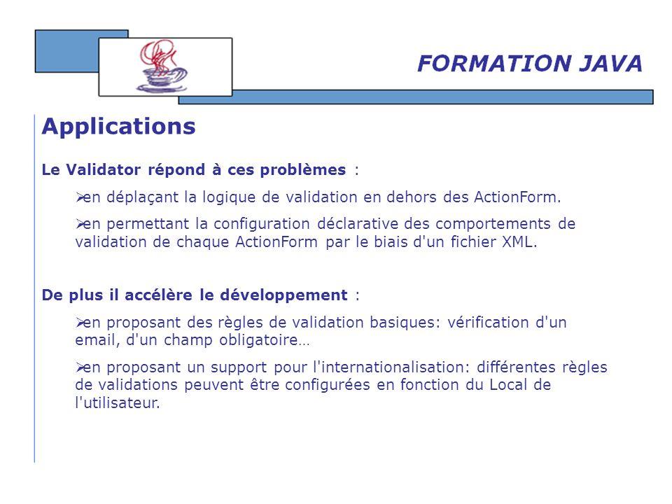 Applications Le Validator répond à ces problèmes :
