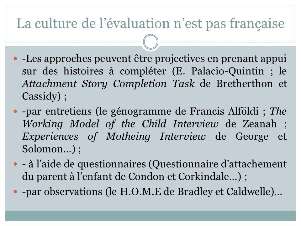 La culture de l'évaluation n'est pas française