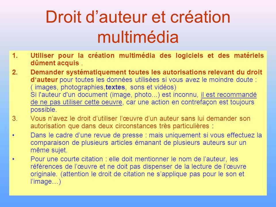 Droit d'auteur et création multimédia