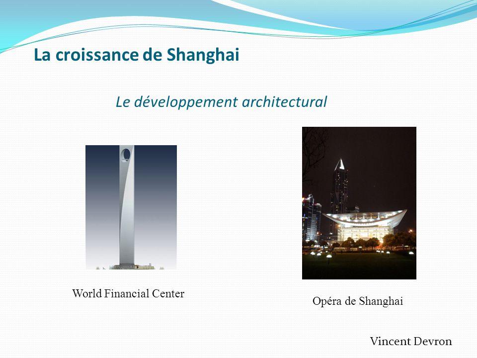 La croissance de Shanghai Le développement architectural