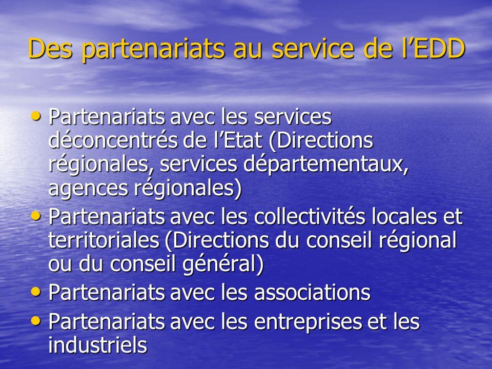 Des partenariats au service de l'EDD