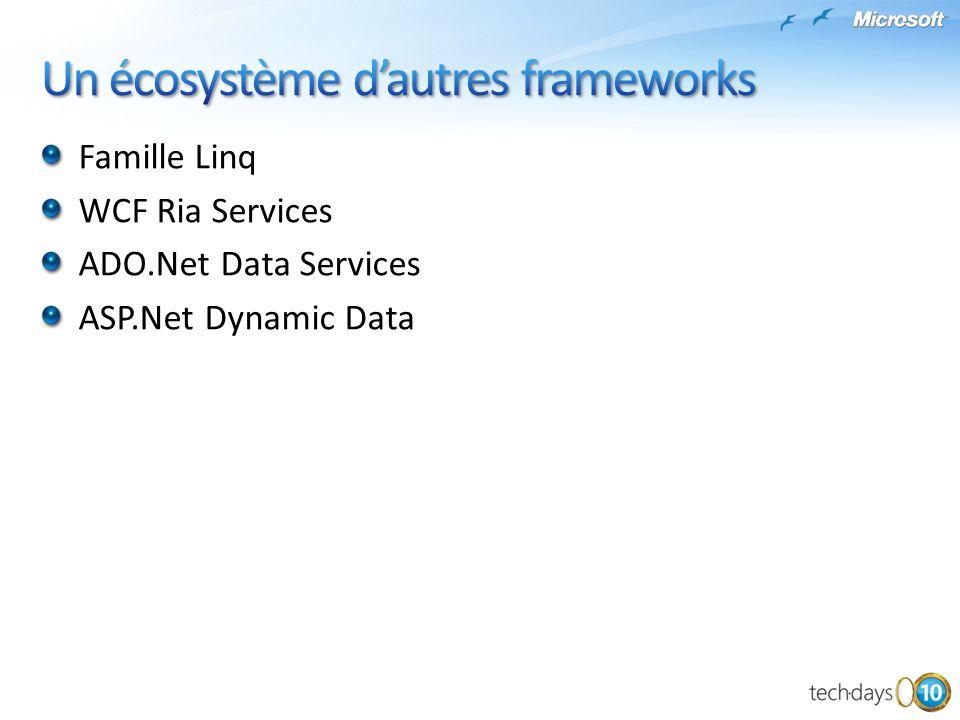 Un écosystème d'autres frameworks