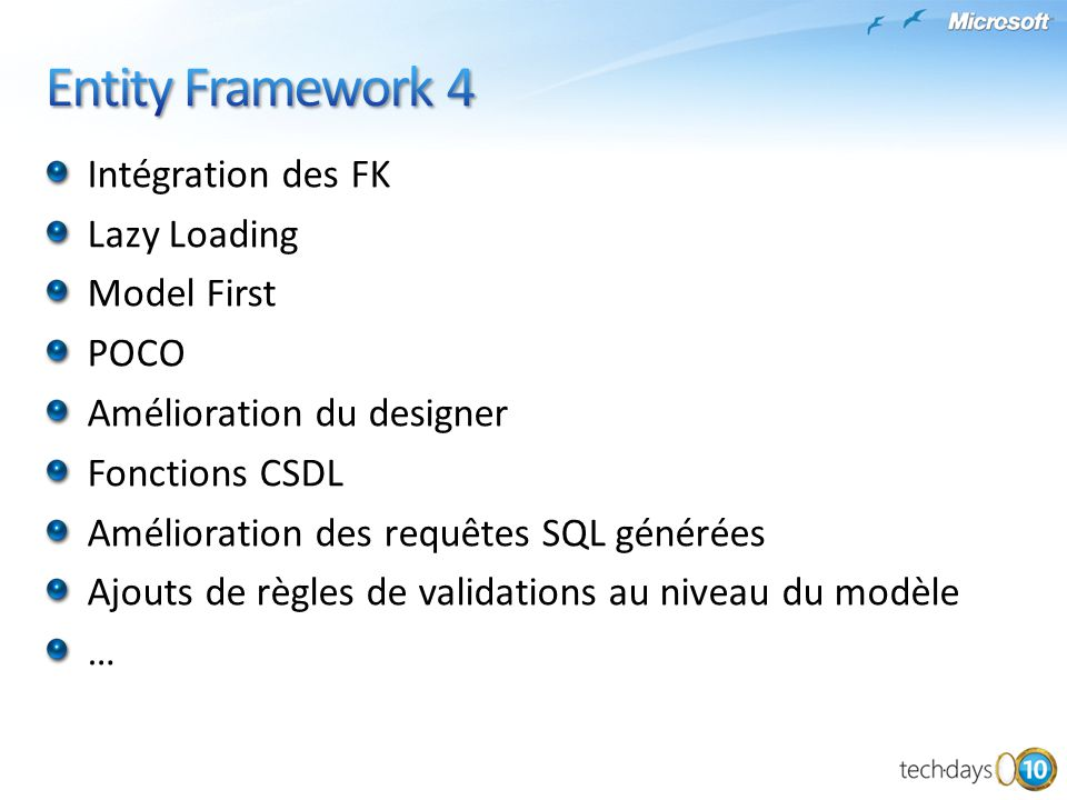 Entity Framework 4 Intégration des FK Lazy Loading Model First POCO