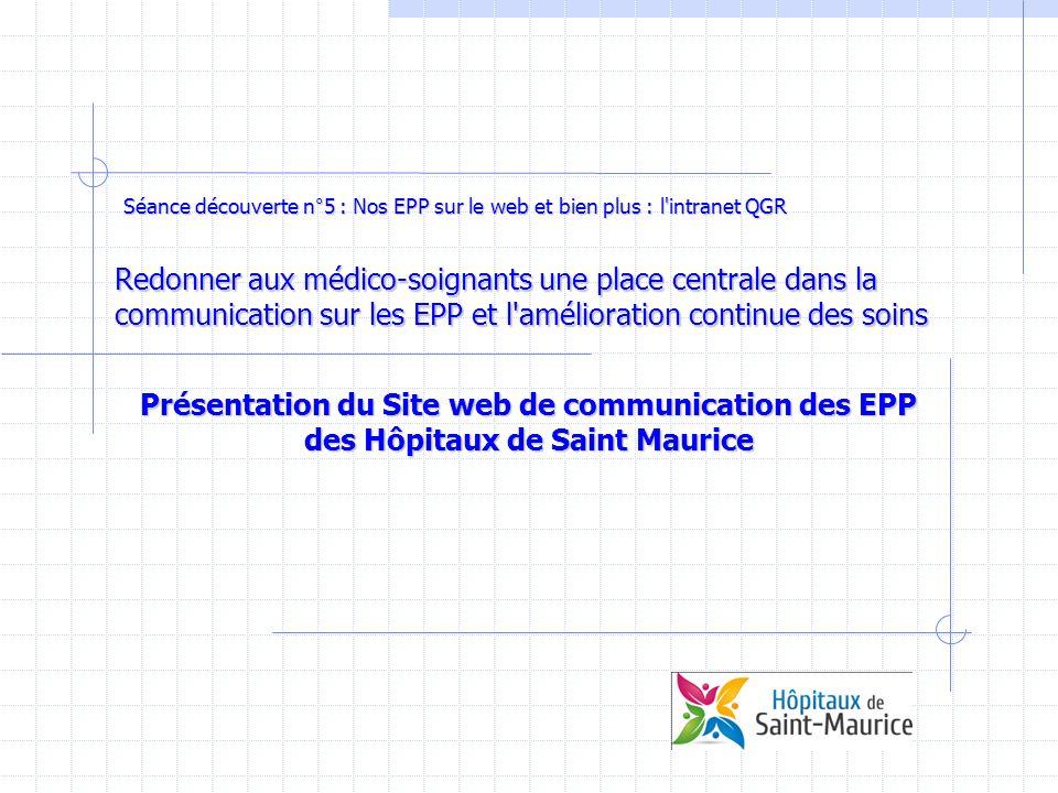 Séance découverte n°5 : Nos EPP sur le web et bien plus : l intranet QGR