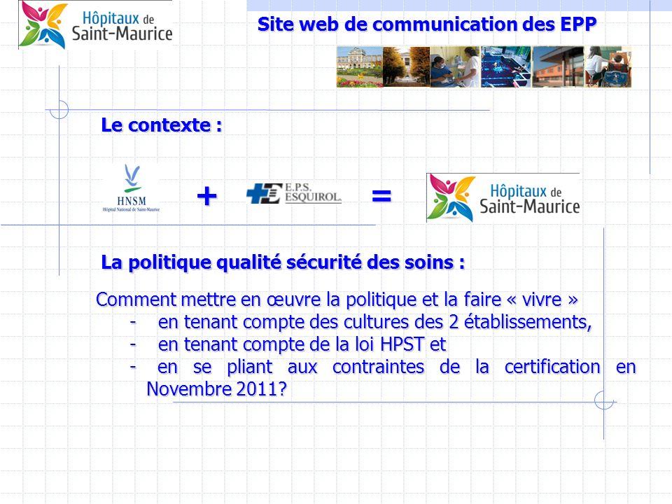 Site web de communication des EPP