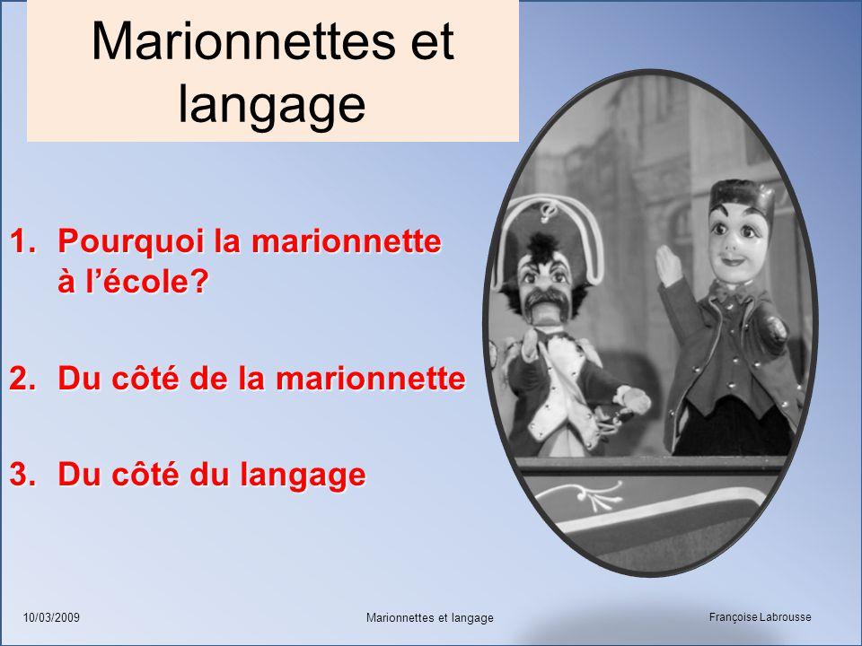 Marionnettes et langage