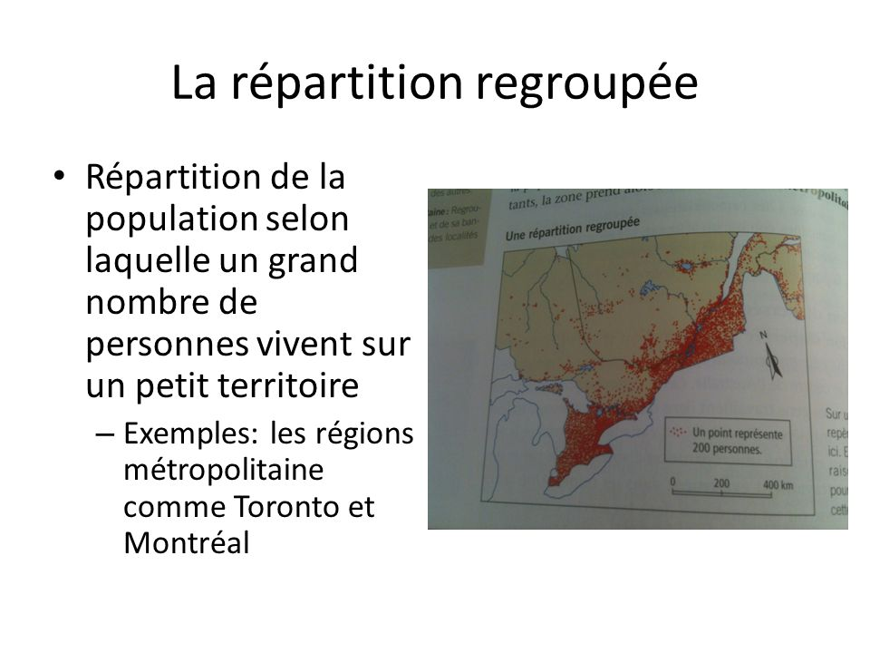 La répartition regroupée