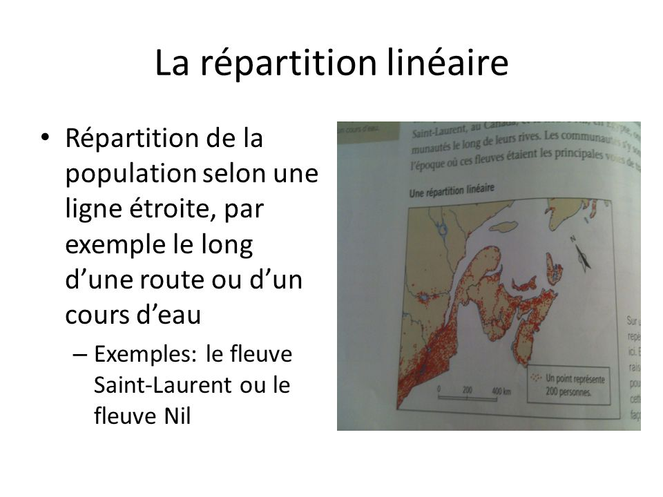 La répartition linéaire