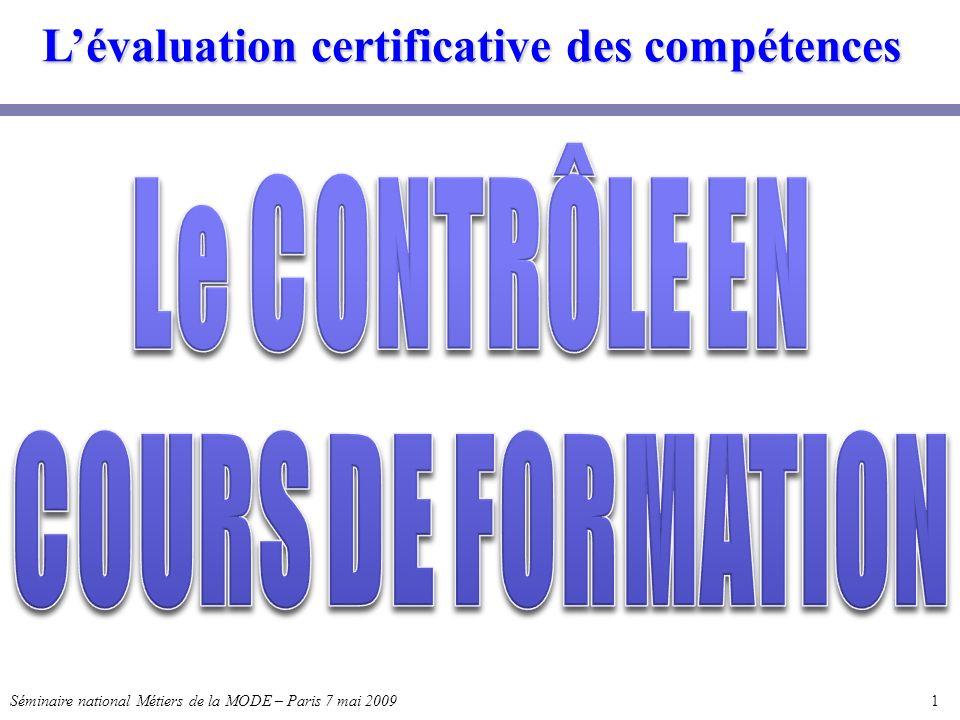 L'évaluation certificative des compétences