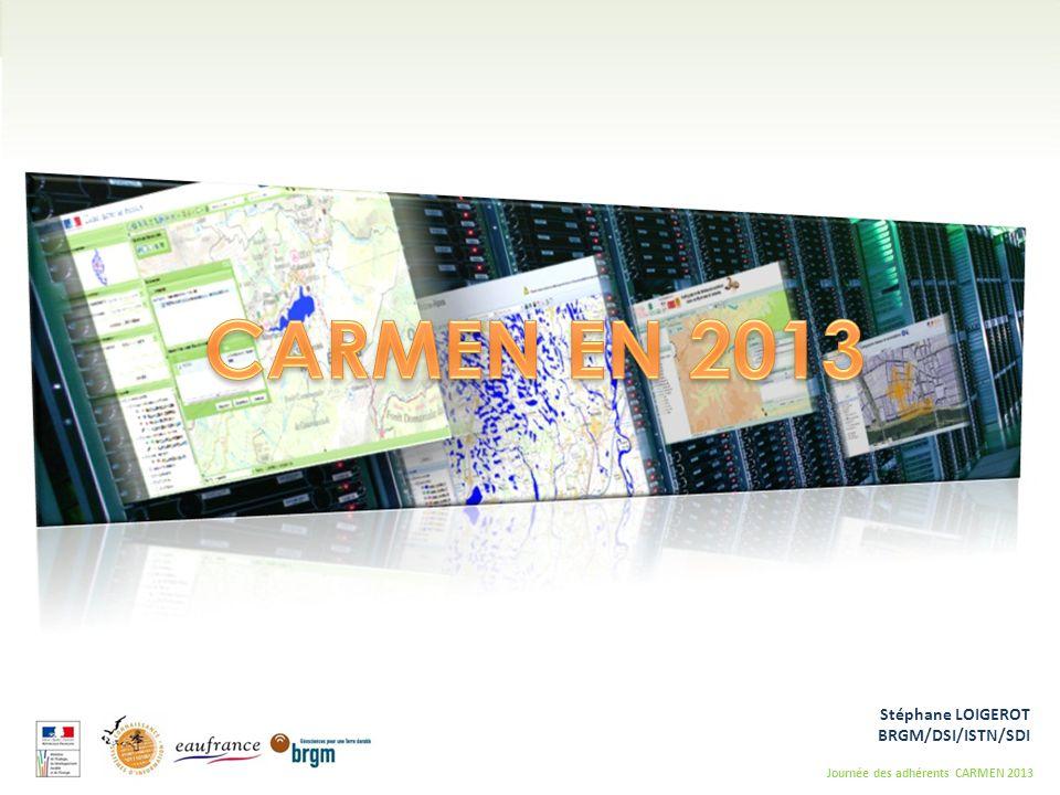 CARMEN EN 2013 Stéphane LOIGEROT BRGM/DSI/ISTN/SDI