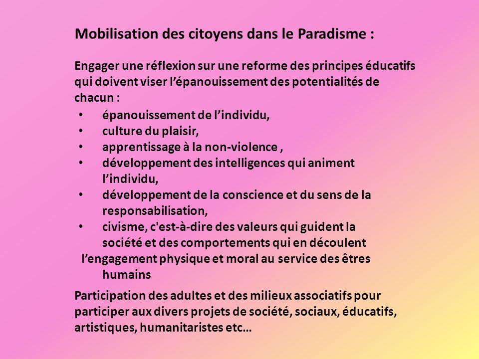 Mobilisation des citoyens dans le Paradisme :