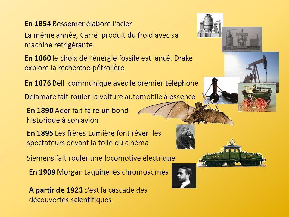 En 1854 Bessemer élabore l'acier