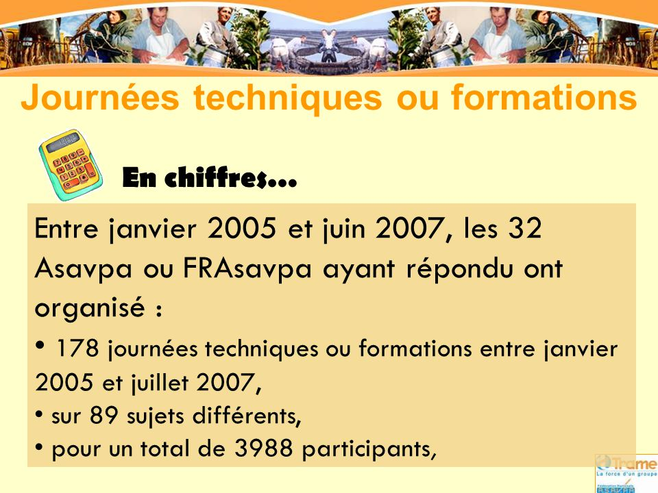 Journées techniques ou formations