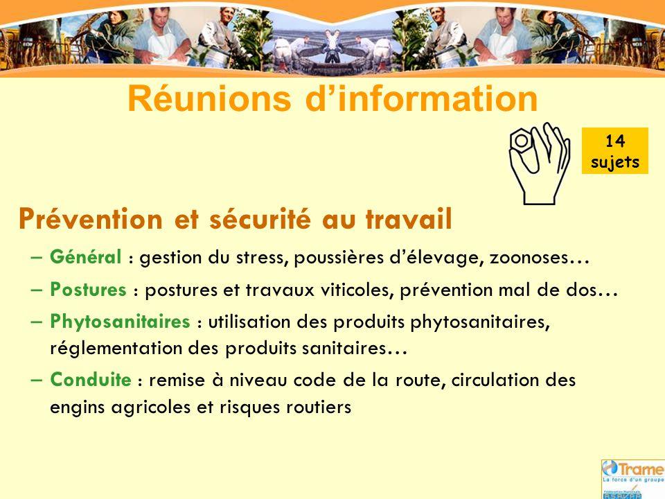 Réunions d'information