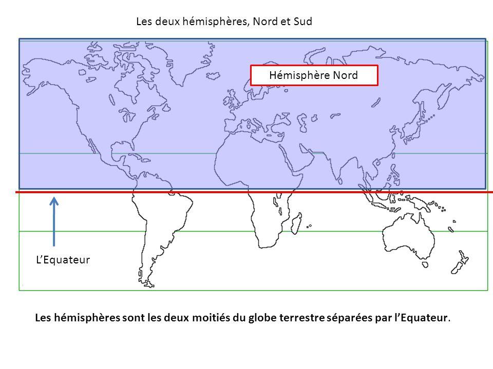 Les deux hémisphères, Nord et Sud