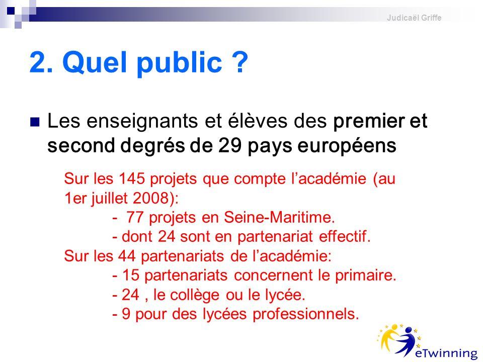 judicael griffe 2. Quel public Les enseignants et élèves des premier et second degrés de 29 pays européens.