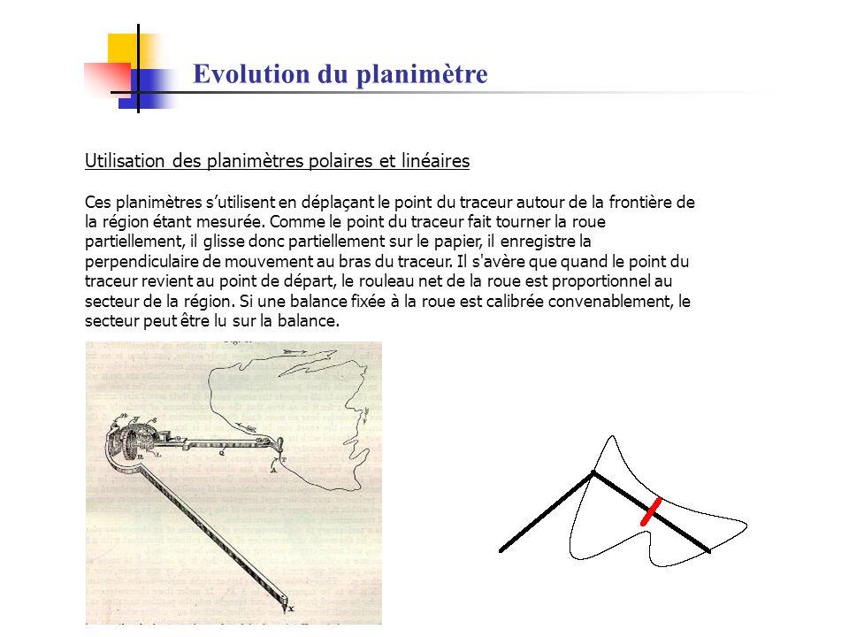 Evolution du planimètre