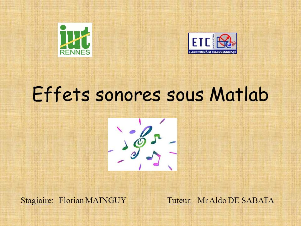 Effets sonores sous Matlab